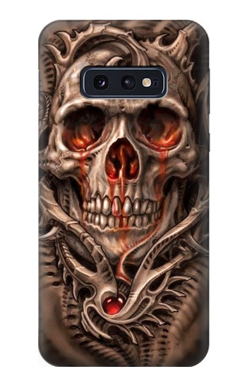 Printed Skull Blood Tattoo Samsung Galaxy S10 Lite, S10e Case