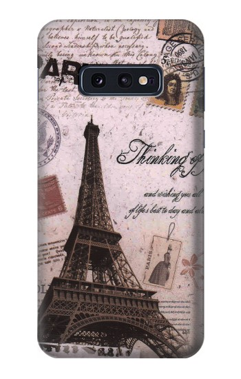 Printed Paris Postcard Eiffel Tower Samsung Galaxy S10 Lite, S10e Case