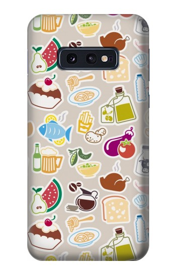 Printed Food and Drink Seamless Samsung Galaxy S10 Lite, S10e Case