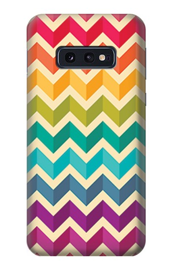 Printed Rainbow Colorful Shavron Zig Zag Pattern Samsung Galaxy S10 Lite, S10e Case