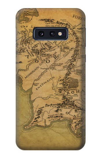 Printed The Lord Of The Rings Middle Earth Map Samsung Galaxy S10 Lite, S10e Case