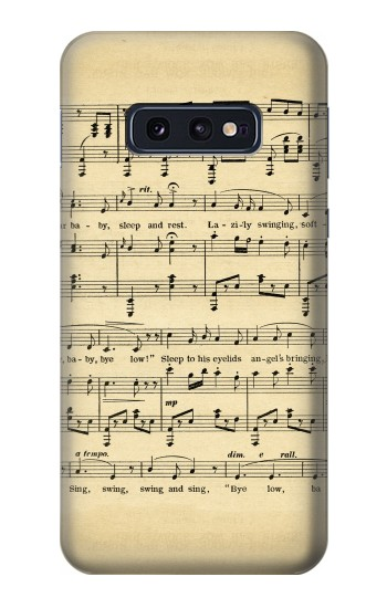 Printed Vintage Music Sheet Samsung Galaxy S10 Lite, S10e Case