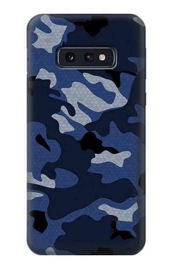 Printed Navy Blue Camouflage Samsung Galaxy S10 Lite, S10e Case