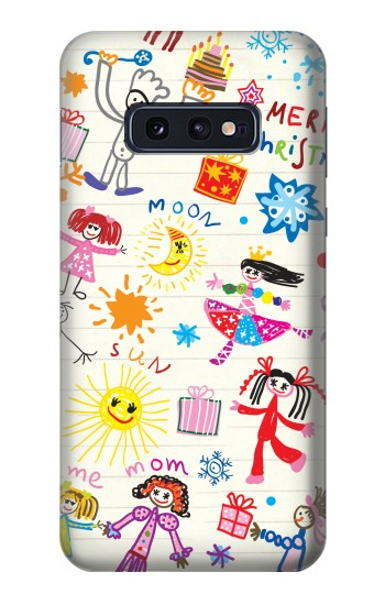 Printed Kids Drawing Samsung Galaxy S10 Lite, S10e Case