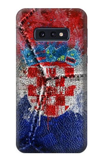 Printed Croatia Flag Vintage Football 2018 Samsung Galaxy S10 Lite, S10e Case