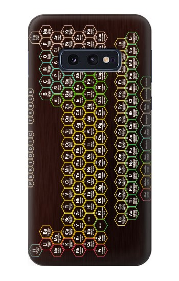 Printed Neon Honeycomb Periodic Table Samsung Galaxy S10 Lite, S10e Case