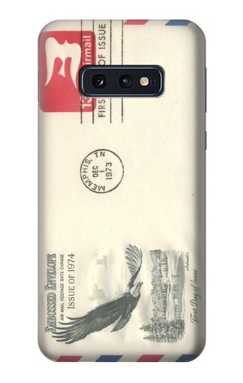 Printed Vintage Airmail Envelope Art Samsung Galaxy S10 Lite, S10e Case