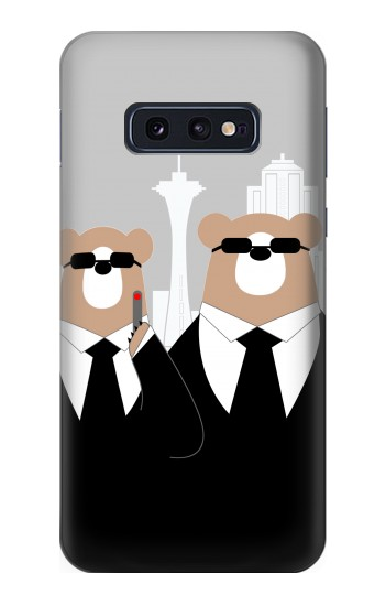 Printed Bear in Black Suit Samsung Galaxy S10 Lite, S10e Case