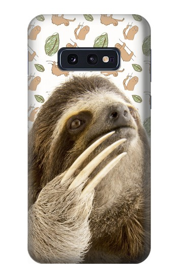 Printed Sloth Pattern Samsung Galaxy S10 Lite, S10e Case