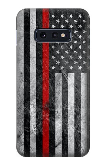 Printed Firefighter Thin Red Line American Flag Samsung Galaxy S10 Lite, S10e Case