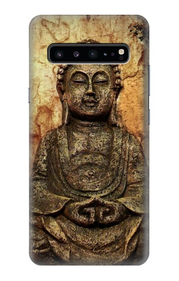 Printed Buddha Rock Carving Samsung Galaxy S10 5G Case