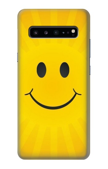 Printed Yellow Sun Smile Samsung Galaxy S10 5G Case