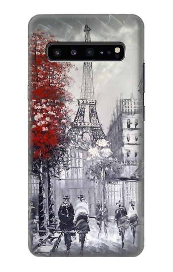 Printed Eiffel Painting of Paris Samsung Galaxy S10 5G Case
