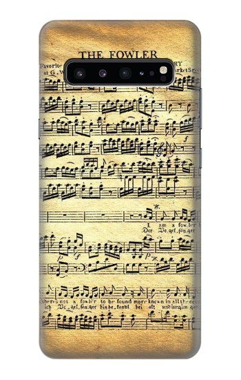 Printed The Fowler Mozart Music Sheet Samsung Galaxy S10 5G Case