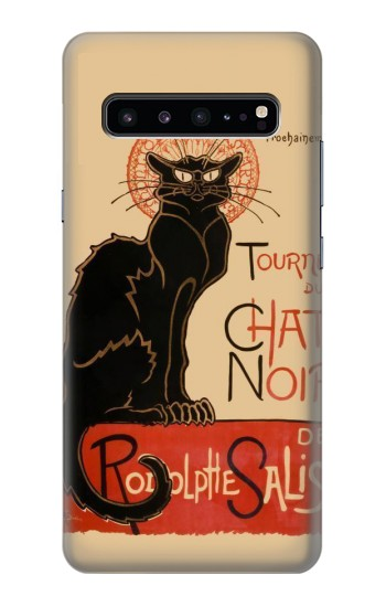 Printed Chat Noir The Black Cat Samsung Galaxy S10 5G Case