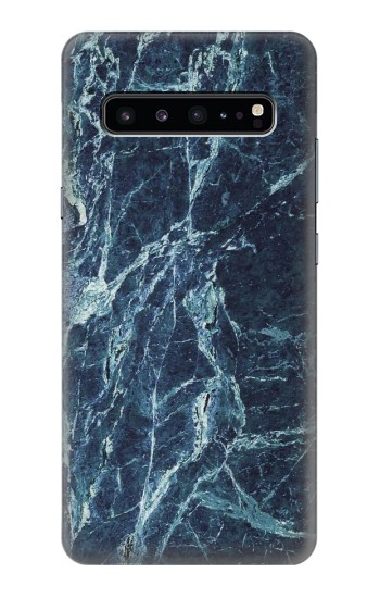 Printed Light Blue Marble Stone Texture Printed Samsung Galaxy S10 5G Case