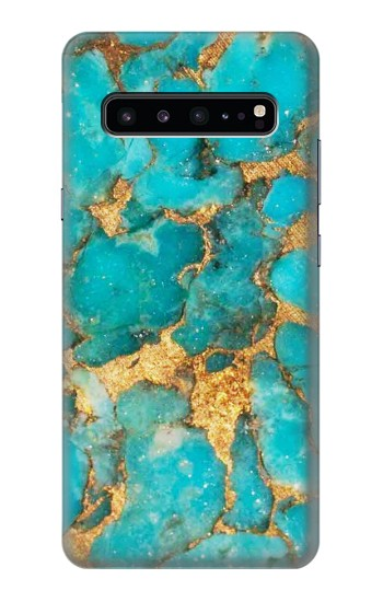 Printed Aqua Turquoise Stone Samsung Galaxy S10 5G Case