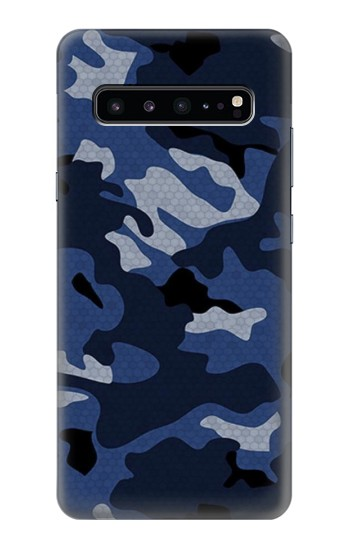 Printed Navy Blue Camouflage Samsung Galaxy S10 5G Case