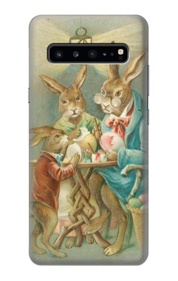 Printed Easter Rabbit Family Samsung Galaxy S10 5G Case