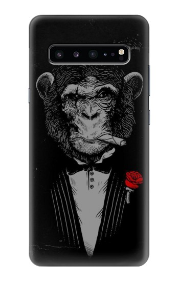 Printed Funny Monkey God Father Samsung Galaxy S10 5G Case