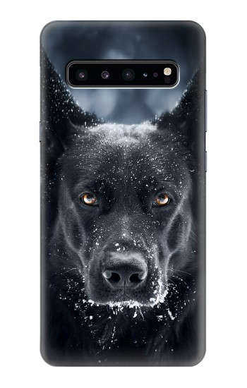 Printed German Shepherd Black Dog Samsung Galaxy S10 5G Case