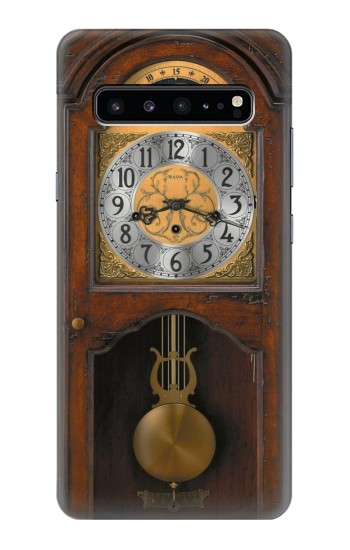Printed Grandfather Clock Antique Wall Clock Samsung Galaxy S10 5G Case