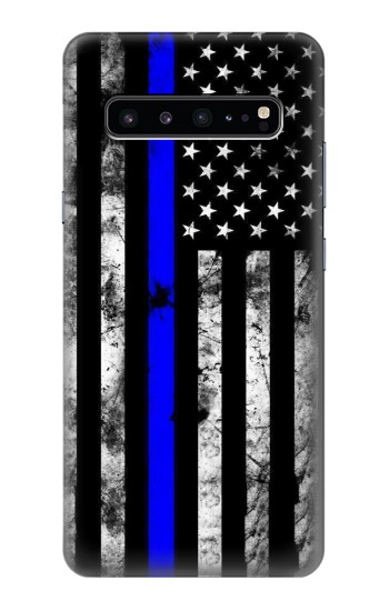 Printed Thin Blue Line USA Samsung Galaxy S10 5G Case