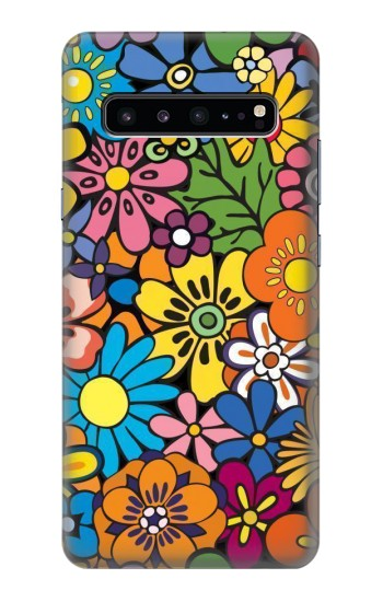 Printed Colorful Flowers Pattern Samsung Galaxy S10 5G Case