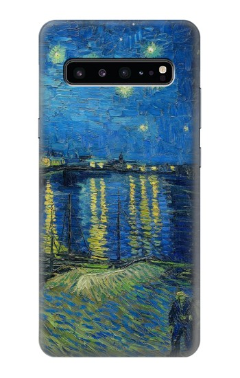 Printed Van Gogh Starry Night Over Rhone Samsung Galaxy S10 5G Case