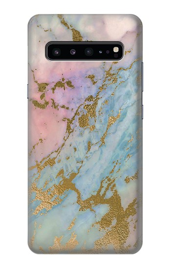 Printed Rose Gold Blue Pastel Marble Graphic Printed Samsung Galaxy S10 5G Case