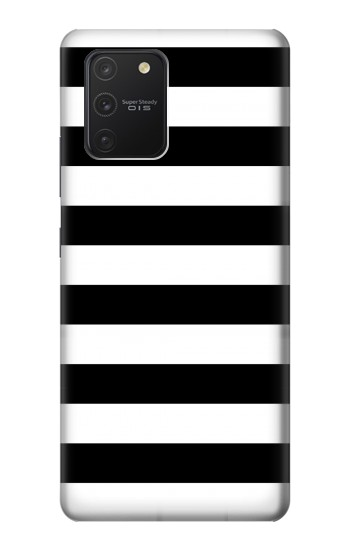 Printed Black and White Striped Samsung Galaxy S10 Lite Case