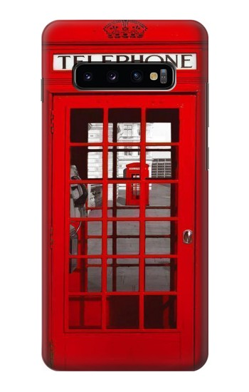 Printed Classic British Red Telephone Box Samsung  Galaxy S10 Plus Case