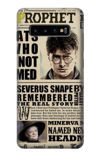 Printed Harry Potter Daily Prophet Samsung  Galaxy S10 Plus Case