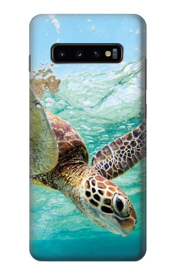 Printed Ocean Sea Turtle Samsung  Galaxy S10 Plus Case