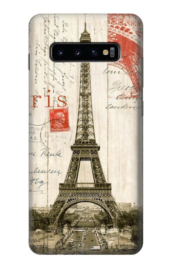 Printed Eiffel Tower Paris Postcard Samsung  Galaxy S10 Plus Case
