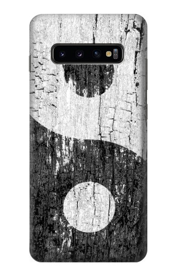 Printed Yin Yang Wood Samsung  Galaxy S10 Plus Case