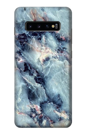 Printed Blue Marble Texture Samsung  Galaxy S10 Plus Case