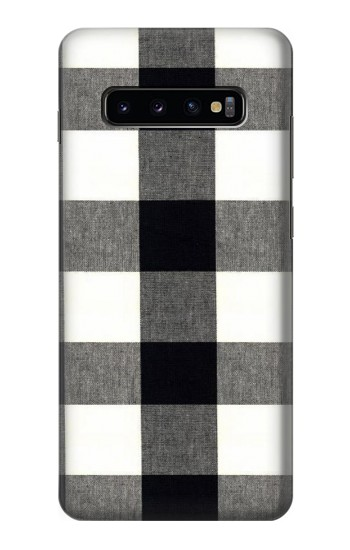 Printed Black and White Buffalo Check Pattern Samsung  Galaxy S10 Plus Case