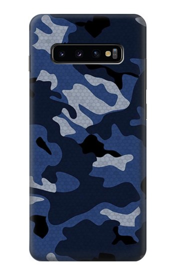 Printed Navy Blue Camouflage Samsung  Galaxy S10 Plus Case