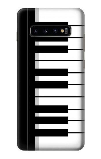 Printed Black and White Piano Keyboard Samsung  Galaxy S10 Plus Case