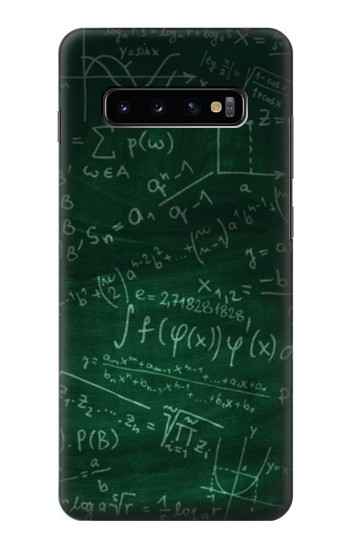 Printed Math Formula Greenboard Samsung  Galaxy S10 Plus Case