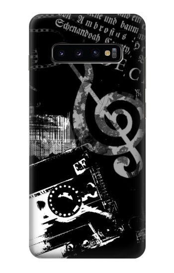 Printed Music Cassette Note Samsung  Galaxy S10 Plus Case