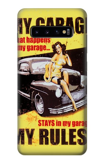 Printed My Garage Pinup Girl Samsung  Galaxy S10 Plus Case