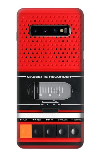 Printed Red Cassette Recorder Graphic Samsung  Galaxy S10 Plus Case