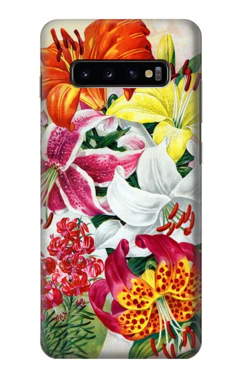 Printed Retro Art Flowers Samsung  Galaxy S10 Plus Case