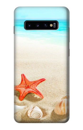 Printed Sea Shells Starfish Beach Samsung  Galaxy S10 Plus Case