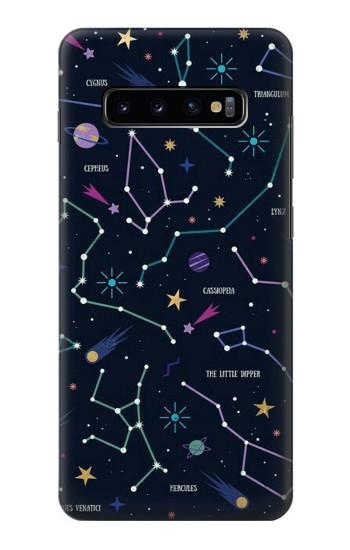 Printed Star Map Zodiac Constellations Samsung  Galaxy S10 Plus Case