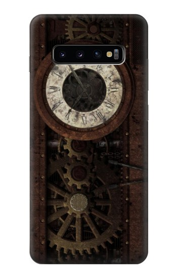 Printed Steampunk Clock Gears Samsung  Galaxy S10 Plus Case