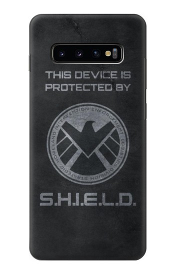 Printed This Device is Protected by Shield Samsung  Galaxy S10 Plus Case