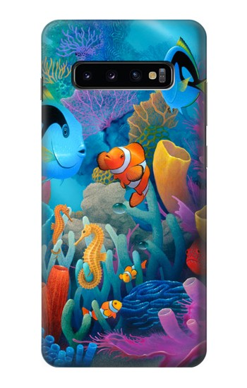 Printed Underwater World Cartoon Samsung  Galaxy S10 Plus Case